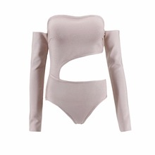 Vero Sinly Sexy Long Sleeve Hollow Out Knitted Stretch Designer Beach Bandage