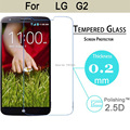 0.2mm Ultra Thin Explosion-proof Tempered Glass Screen Protector Film For LG Optimus G2 D802 skin Front Cover Guard case