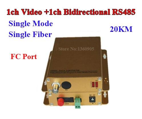 1 Channel Video + 1ch bidirectional RS485 Data Fiber Optical Converter 1 pair transmitter & receiver For CCTV Access Control 1 channel video optical converter digital fiber video optical 1 pair transmitter