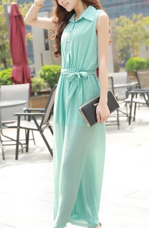 2013 jumpsuit type elegant sleeveless chiffon jumpsuit trouser with belt