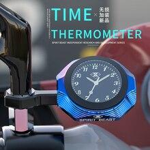 Spirit Beast Motorcycle Clock Thermometer Handlebar Clocks for Piaggio Honda Suzuki Yamaha Harely Benelli Ducati BMW KTM Vespa