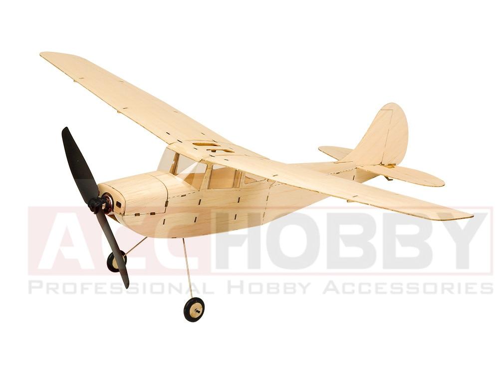 MinimumRC Cessna L19 445mm Wingspan Micro RC Balsa Wood Laser Cut Building Kit RC Airplane KIT Brushless Version K12 фонарь фаzа af6 l19 sr