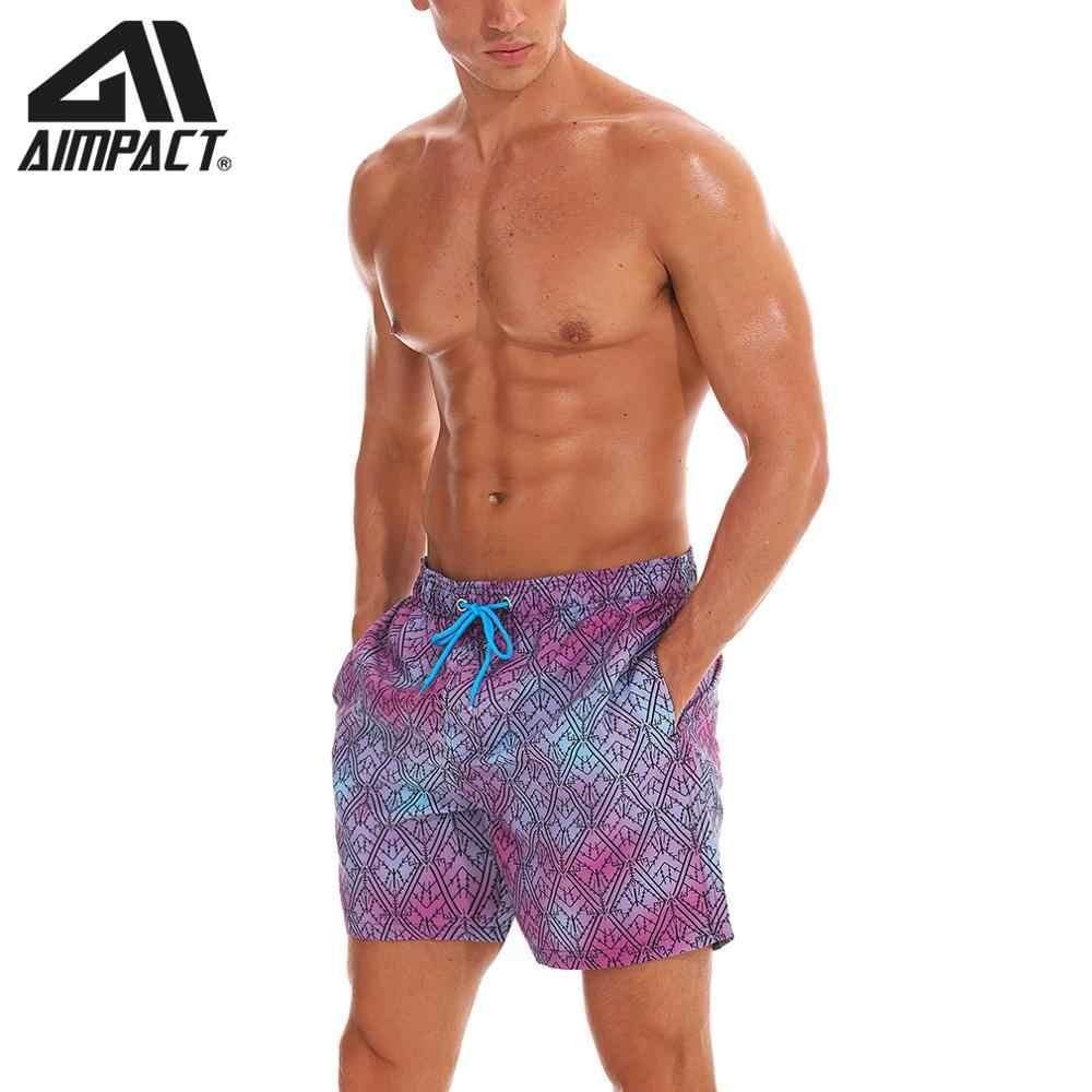 AIMPACT Mens Beach Short Swim Trunks Printed Purple Diamonds with Mesh Lining Pocket Quick Dry Man Board Shorts Swim Suit AM2200