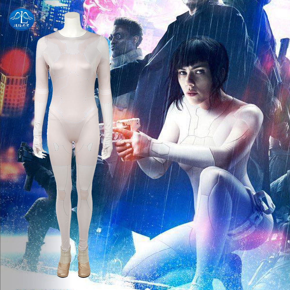MANLUYUNXIAO Ghost In The Shell Costume Kusanagi Motoko Cosplay Costume Halloween Adult Women Movie Suit Anime Clothing