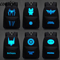 Iron Man backpack luminous small monster Backpack Bag Superman low-key white boy and girl
