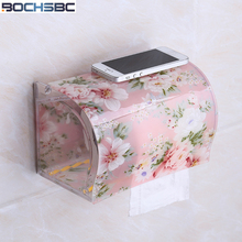 BOCHSBC حامل ورق المرحاض البلاستيك الاكريليك مقاوم للماء مناديل حمام صندوق حامل الحرة خنجر الإبداعية باب منشفة ورقية صندوق