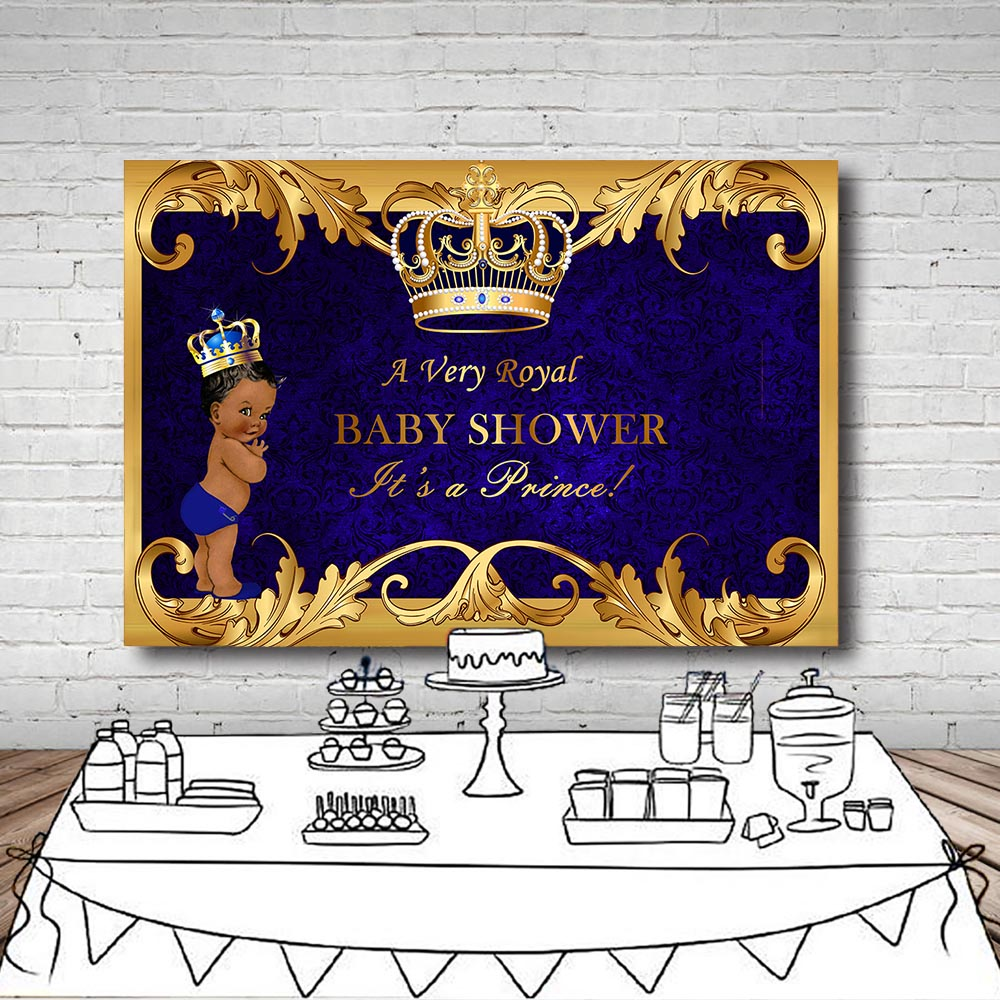 Royal Baby Shower Photo Backdrop Baby Gender Reveal Little
