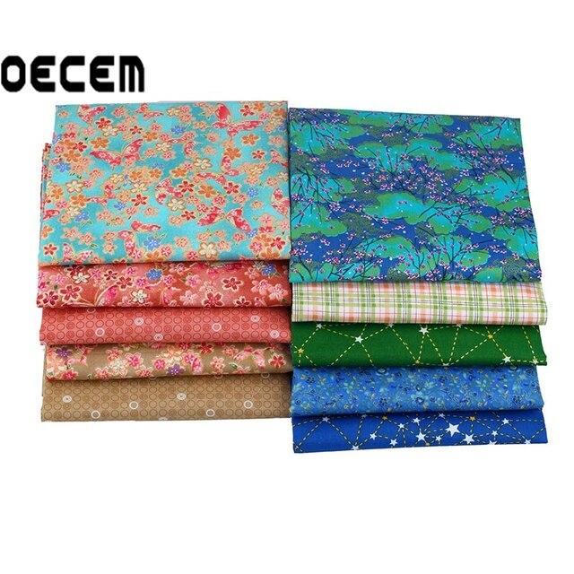 Japanischen Stil Baumwolle Quilten Stoff Fat Quarter Bundles Gewebe
