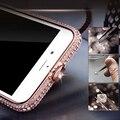 7 Плюс Роскошные Диаманта bling Рамка Для Iphone 7 6 6 s Плюс 5 5S SE Случае Моды Кристалл Горного Хрусталя Crown Бампер Металла Элегантный Капа