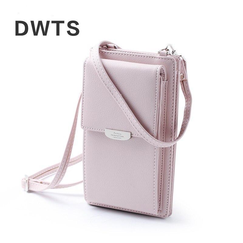 2019 New Women Casual Wallet Brand Cell Phone Wallet Big Card Holders Wallet Handbag Purse Clutch Messenger Shoulder Straps Bag