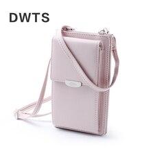 2019 nowych kobiet casualowy portfel marki etui na telefon komórkowy duże etui na karty portmonetka sprzęgła Messenger paski na ramionach torba