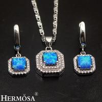 Australian Fire Opal Sets 925 Sterling Silver Earrings Pendant Necklace Set Amazing Grace Women Wedding Jewelry Pretty Xmas Gift