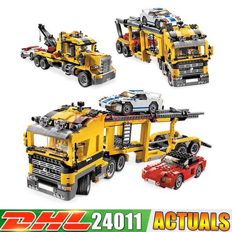 2017 DHL 24011 1344Pcs Technic Series 3 in 1 Highway Transport Lepin Building Block Compatible 6753 Brick Toy compatible with lego technic creative lepin 24011 1344pcs 3 in 1 highway transport building blocks 6753 bricks toys for children