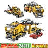2018 DHL 24011 1344Pcs Technic Series 3 in 1 Highway Transport Lepin Building Block Compatible 6753 Brick Toy