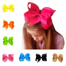 6 inch bows boutique baby girl hair ribbon bow clips hairpin girl's butterfly hairgrip hairbows