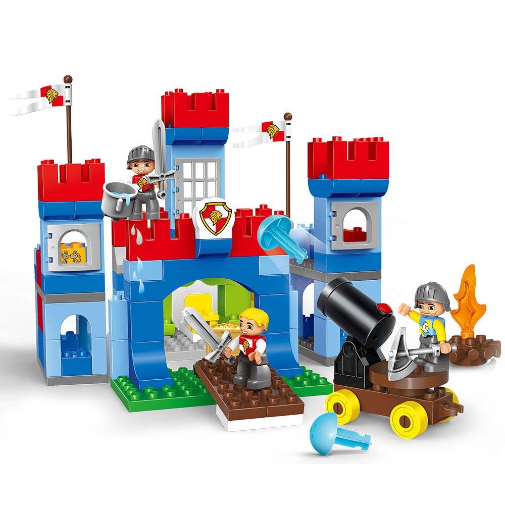 138 pièces grande taille soldats de guerre artillerie Royal château mur blocs de construction compatibles Leogings Duploe série jouets bébé cadeau