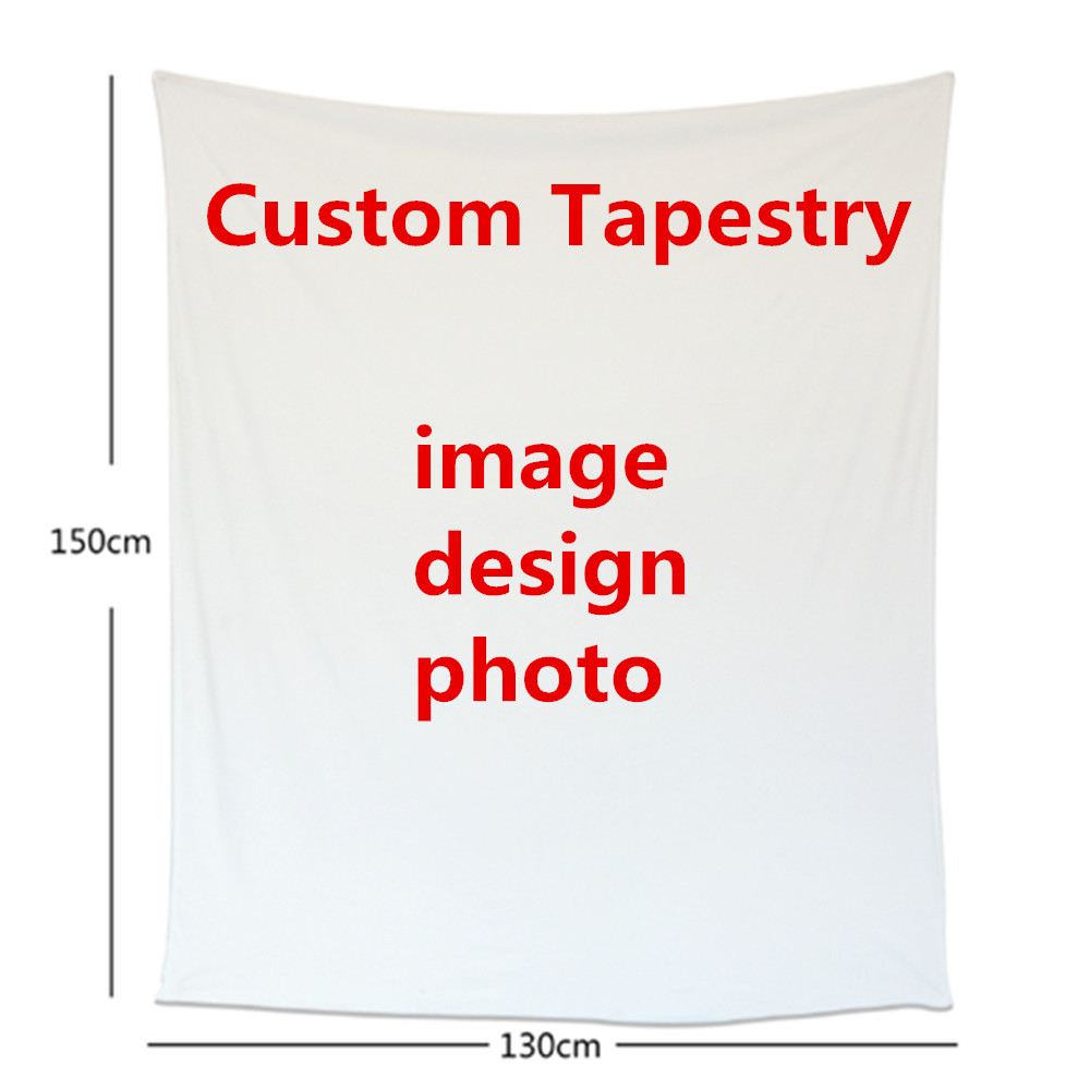 Customize Tapestry Print any size Bed Cosy Travel Plaids TV Casual Relax for family holiday Warm Winter blanket Free shipping