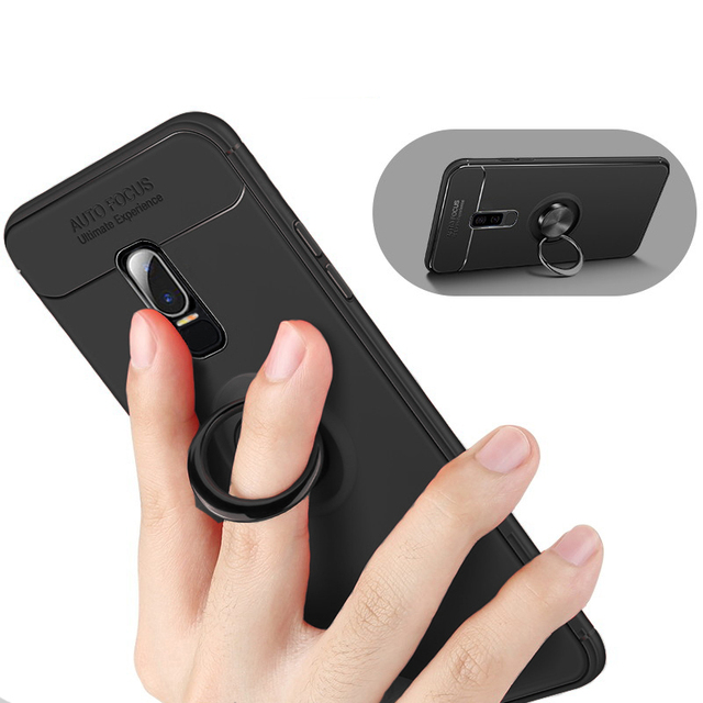 check out d9e09 18a19 US $4.99 |For Oneplus 6 Case Cover Magnetic Car Holder Case 360 Rotating  Finger Ring Soft TPU Phone Cover For Oneplus 6-in Half-wrapped Cases from  ...