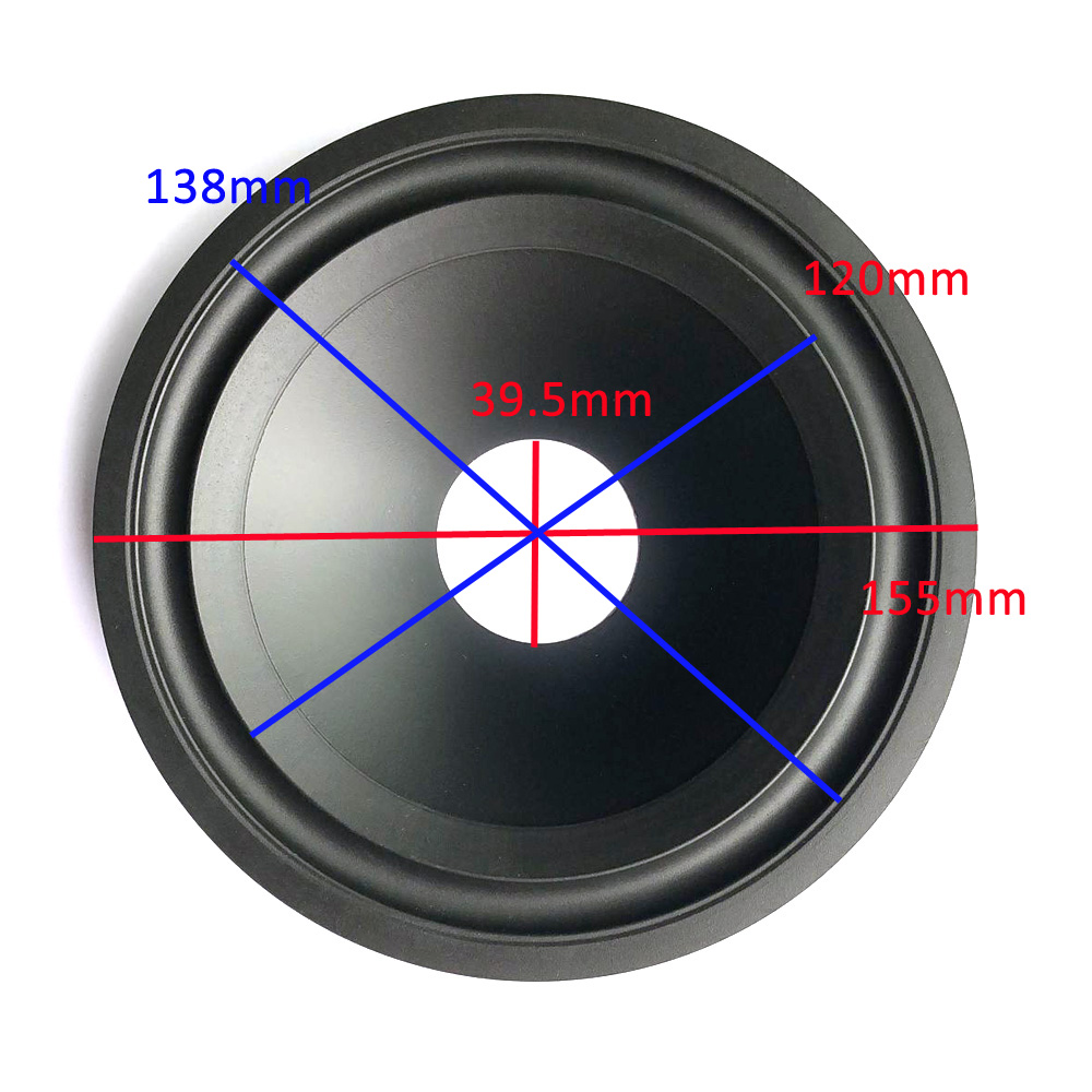 6.5 Inch Loudspeaker Paper Cone (155mm*138mm*120mm*39.5mm) 30mm Height With Rubber Edge Speaker Woofer Paper Cone