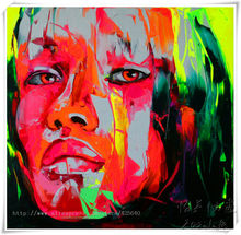 Palette knife painting portrait Palette knife Face Oil painting Impasto figure on canvas Hand painted Francoise Nielly 3