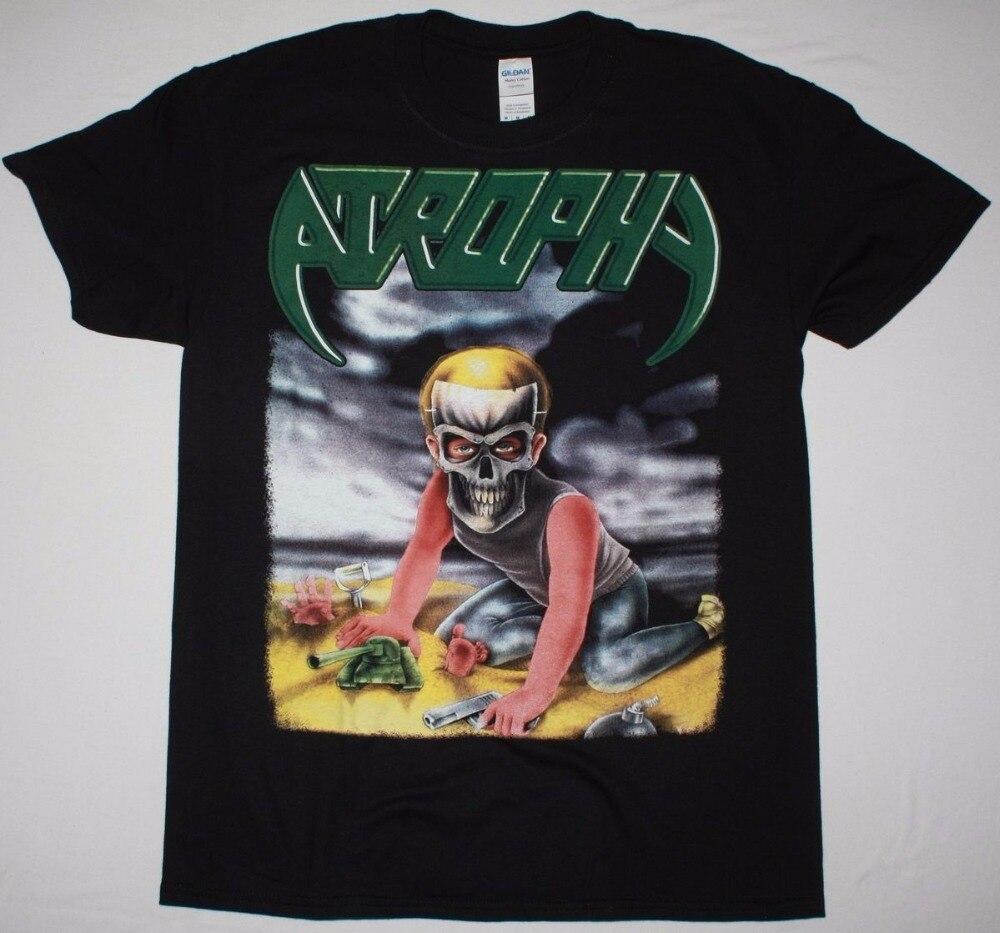 Формальные Рубашки для мальчиков атрофия насильственные по своей природе Tour коронер трэш S 3XL Новая черная футболка Короткие Для мужчин эки... ...