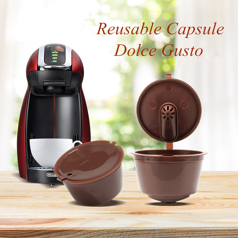 3pcs/pack Use 150times Dolce Gusto Coffee Capsule Plastic Capsule Refillable Reusable Compatible With Nescafe Dolce Gusto Refill