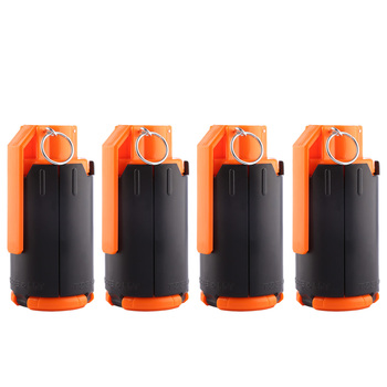 4pcs/set High Recommend Tactical Plastic Modified Crystal Water Beads Bomb Crystal Water Bullet Bomb - Black + Orange