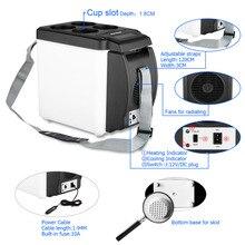 Mini Excelvan Portable Auto Fridge 12V 6L Car Travel Warm Refrigerator Quality ABS Multi-Function Home Cooler Freezer Warmer