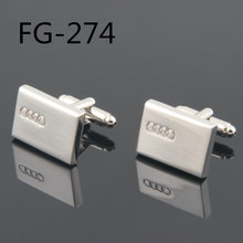 Fashion Cufflinks FREE SHIPPING:High Quality Cufflinks For Men FIGURE 2018Cuff Links Cars Logo FG-274 Wholesales(China)