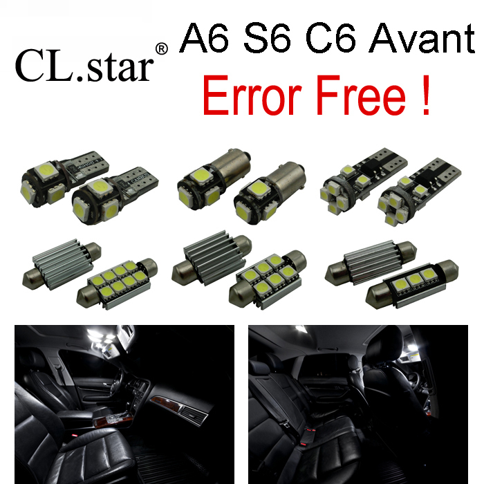 20pc X canbus Error Free for Audi A6 S6 RS6 C6 Avant Quattro LED Interior Light Kit Package (2005-2011) 11pc x canbus error free led interior light kit package for audi a6 s6 rs6 c6 quattro sedan 2005 2011 accessories lighting bulbs