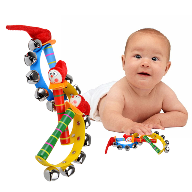 0 2 Months Cute Baby Toys Colorful Cartoon Clown Musical Bell Toys