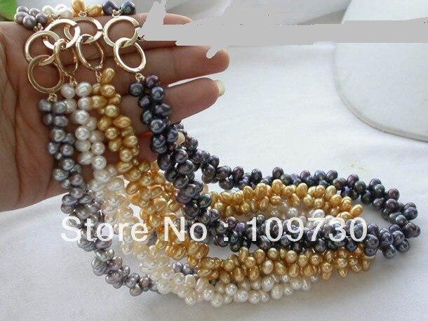 Ювелирные изделия 0012473 оптовая 4S 17 рис FW ИСКУССТВЕННОГО ЖЕМЧУГА ожерелье