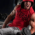 Men's Bodybuilding Hoodies Sleeveless Hoodie Tracksuit Tops Muscle Fit Gyms Clothing Casual Men Workout Clothes