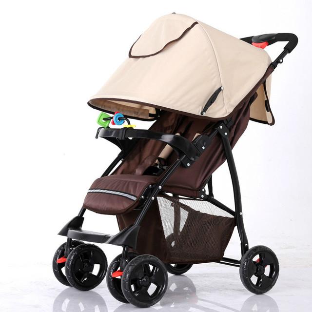 Nova Chegada do Verão Do Bebê Carrinho De Criança Dobrável Portátil Fácil Pode Sentar Pode Mentir À Prova de Choque de Segurança Peso Leve Do Pram Do Bebê Do Carrinho de Bebê