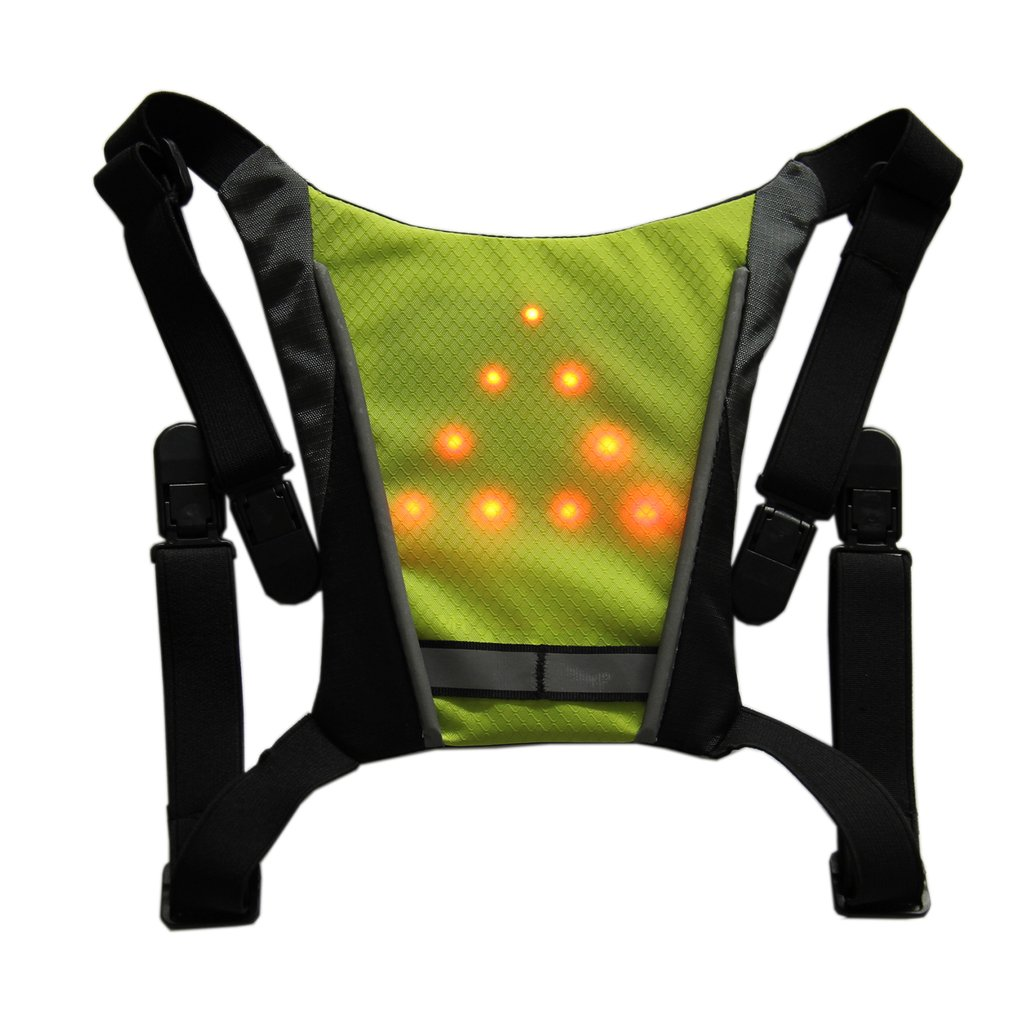 Bicycle Bags & Panniers Bicycle Accessories 2019 New Usb Charging Led Light Warning Vest Backpack Mtb Bike Bag Safety Led Signal Vests Warning Accessories 100% Guarantee