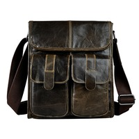 New Fashion Real Leather Multifunction Male Casual Messenger Bag Satchel Cowhide 10 Cross Body Shoulder Bag