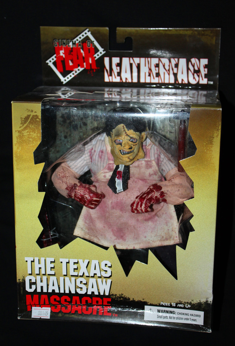 Hot Sale Terror Movie  The Texas Chainsaw Massacre Mezco Cinema Of Fear Leatherface Homicidomania 23CM Action Figure Toys