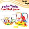 Versão dupla Cheia Festa Fun Game Face brinquedos Bordo do Foguete, Choque Engraçado Gadgets Entre Pais e filhos Crianças Jogos De Tabuleiro Anti Stress Presentes da mordaça