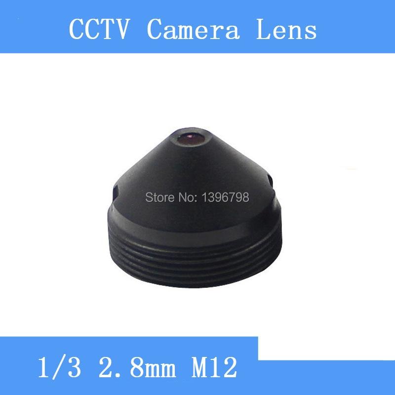 Factory direct infrared surveillance camera pinhole lens 2 8mm M12 thread CCTV lens F2 fixed Iris