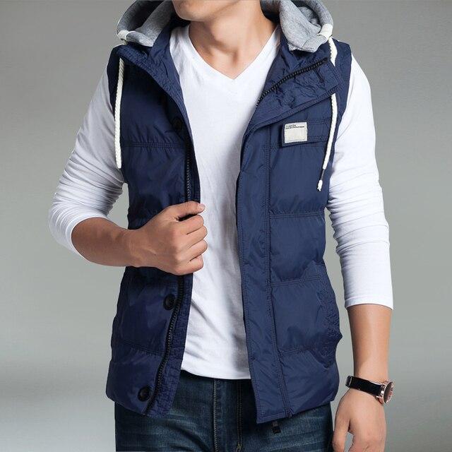Plus size M-5XL Mens vest winter wadded jacket vest outerwear coat Y142 P75