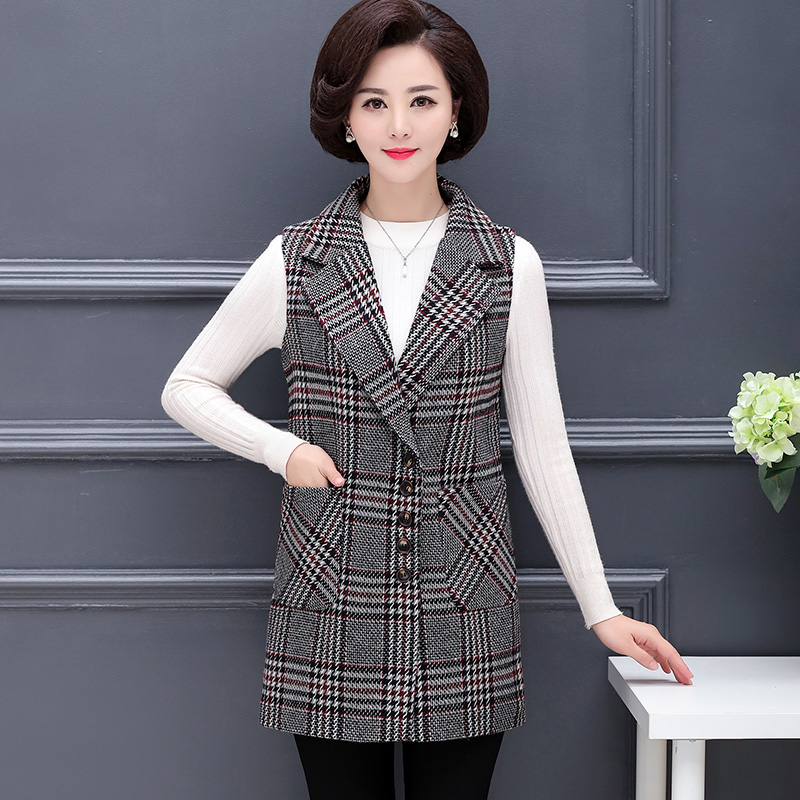 XL-5XL 2019 Blazers Women's Slim Fit Blazer Suit Jacket Khaki Gray Plaid Women Plus Size Casual Vintage Suit Blazer Female