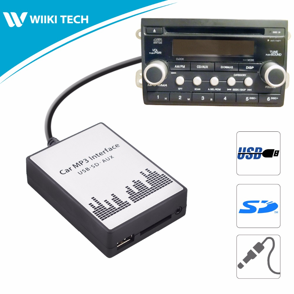 APPS2Car Car Radio USB SD AUX Interface Digital Music Changer Mp3 Adapter for Honda Element 2003-2011 fits selected OEM Radios yatour car adapter aux mp3 sd usb music cd changer 12pin connector for volkswagen audi a3 a4 s4 tt seat altea leon toledo radios