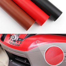 Interior del coche de centro de papel de pegatina para consola cuero reconstituido consola Central de cambio de Color del automóvil Interior modificación