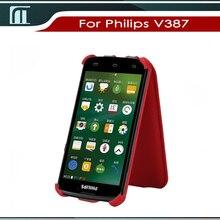 Новое прибытие Высокого качества телефона чехол Для Philips V387 вверх и вниз флип телефон случаях с бесплатной доставкой