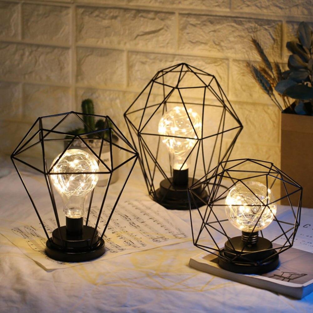 Nordic LED Table Lamp Iron Art Decoration Home Night Lamp ...