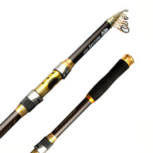 New Arrival 2.1M 2.4M 2.7M 3.0M 3.6M Portable Carbon Telescopic Spinning Hand Fishing Rod Sea Fishing Tackle Accessory Tools