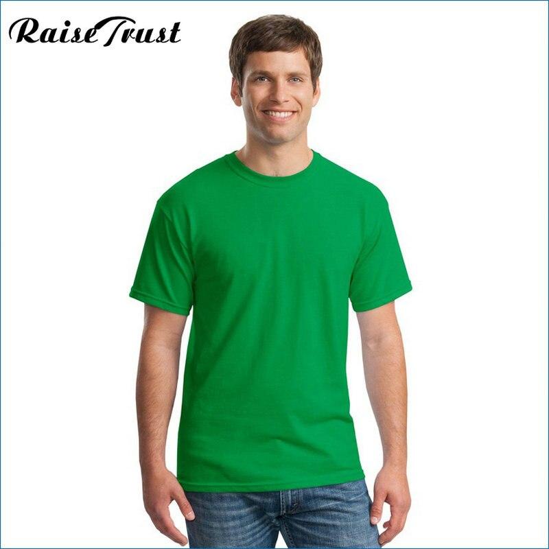 2019 Yeni Katı renk T Gömlek yaz Erkekler t gömlek kısa kollu - Erkek Giyim - Fotoğraf 4