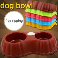 Free Shipping Petcircle Dual Port Dog Water Dispenser Feeder Utensils Bowl Cat Drinking Fountain Food Dish