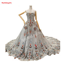 961425 Ball Gown Evening Strapless Appliqued Party Dress