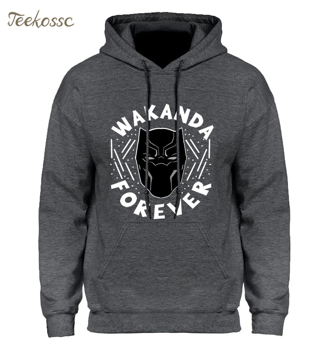 size 40 3e85d 0e656 US $10.24 42% OFF|Black Panther Hoodie Men Wakanda Forever Hoodies Mens  Killmonger Pullover Hooded Sweatshirt Harajuku Fleece Hip Hop Streetwear-in  ...